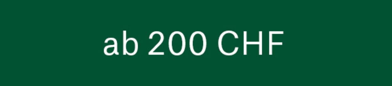 Geschenke ab 200 CHF
