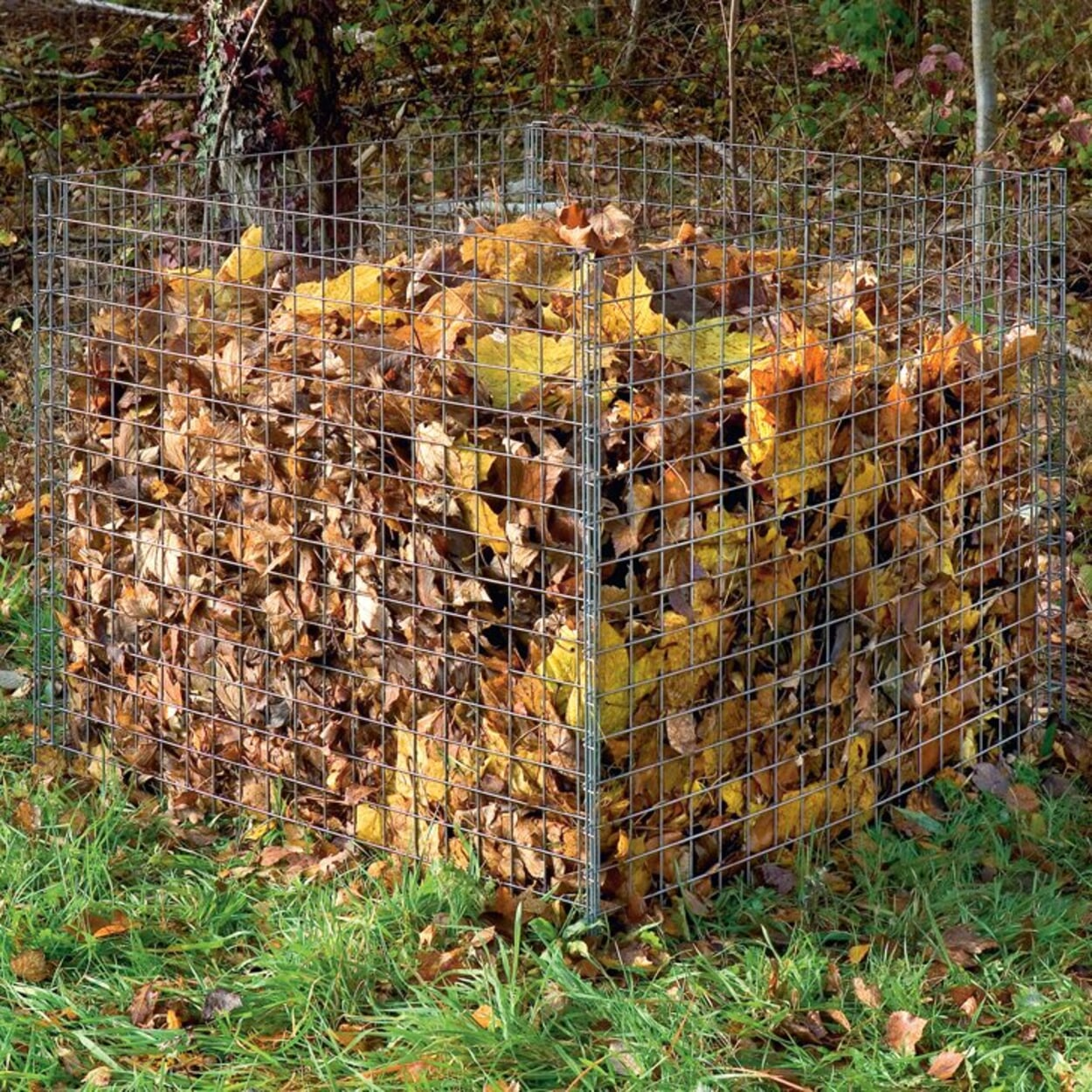 ... und zum Komposter transportieren