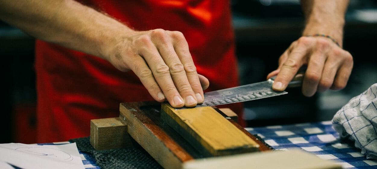 Messer schleifen
