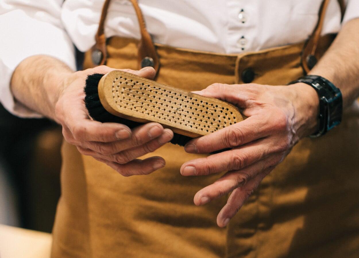 Schuhe-vorreinigen