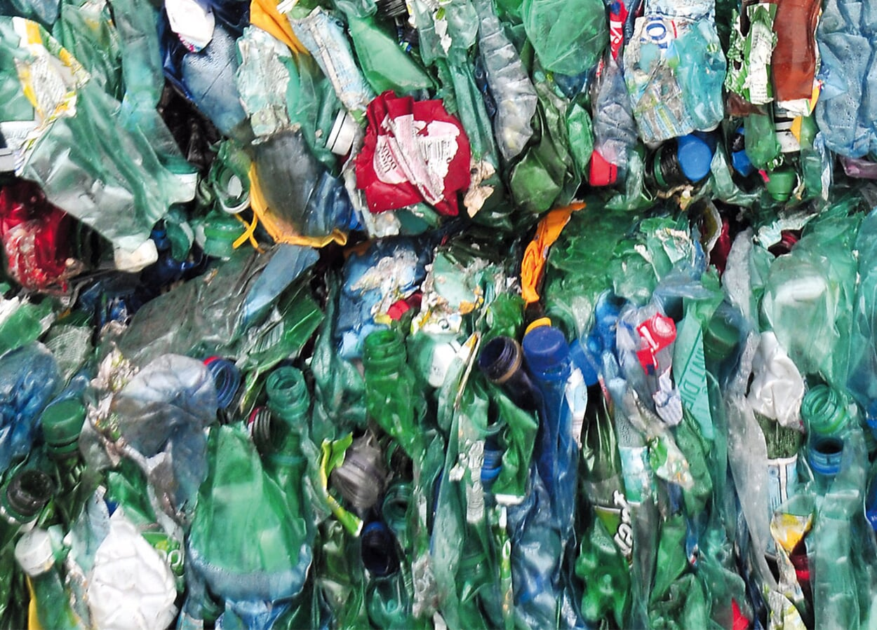 Einweg-Plastikflaschen