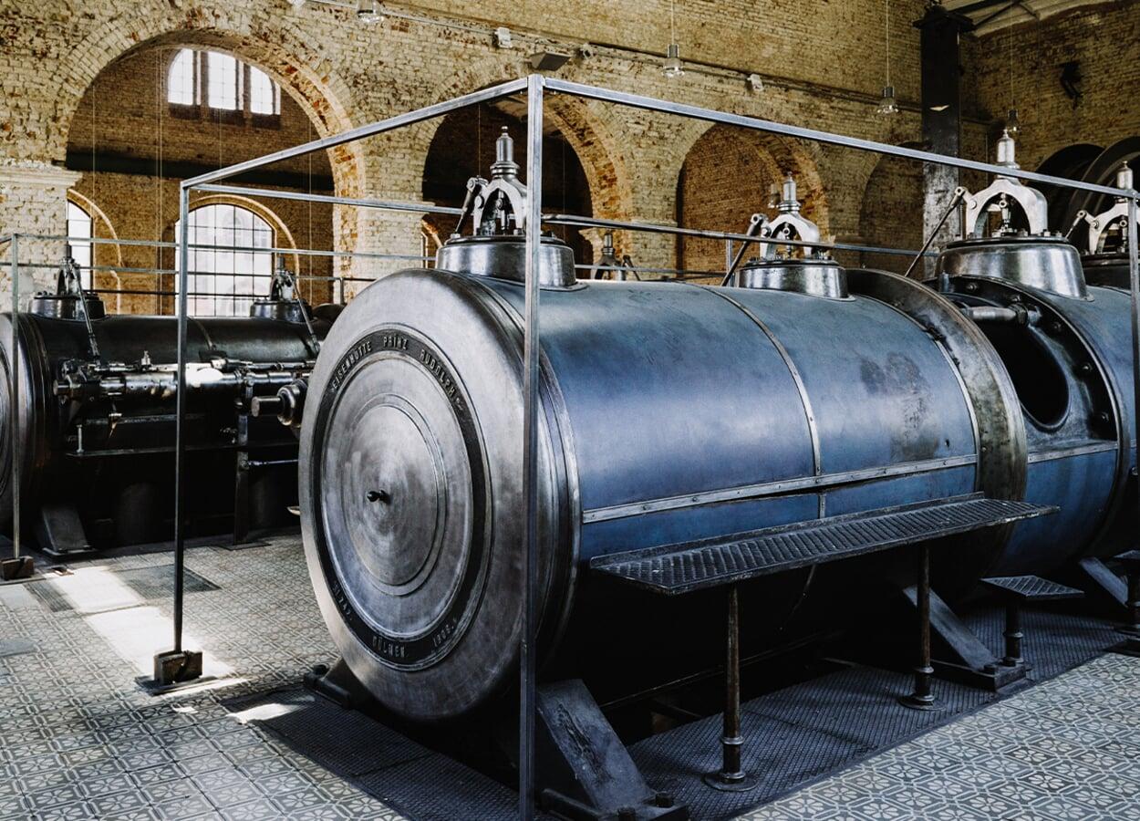 Die Fördermaschinenhalle in Waltrop