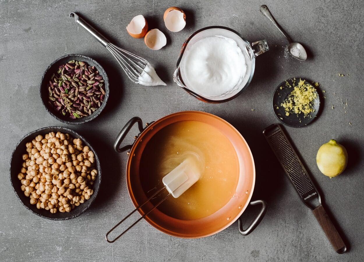 Lavendel-Torrone Zubereitung