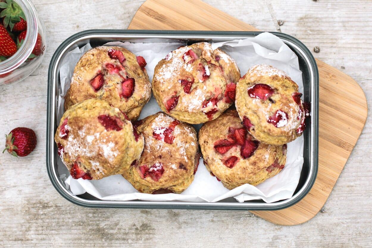 Erdbeer-Vanille -Scones