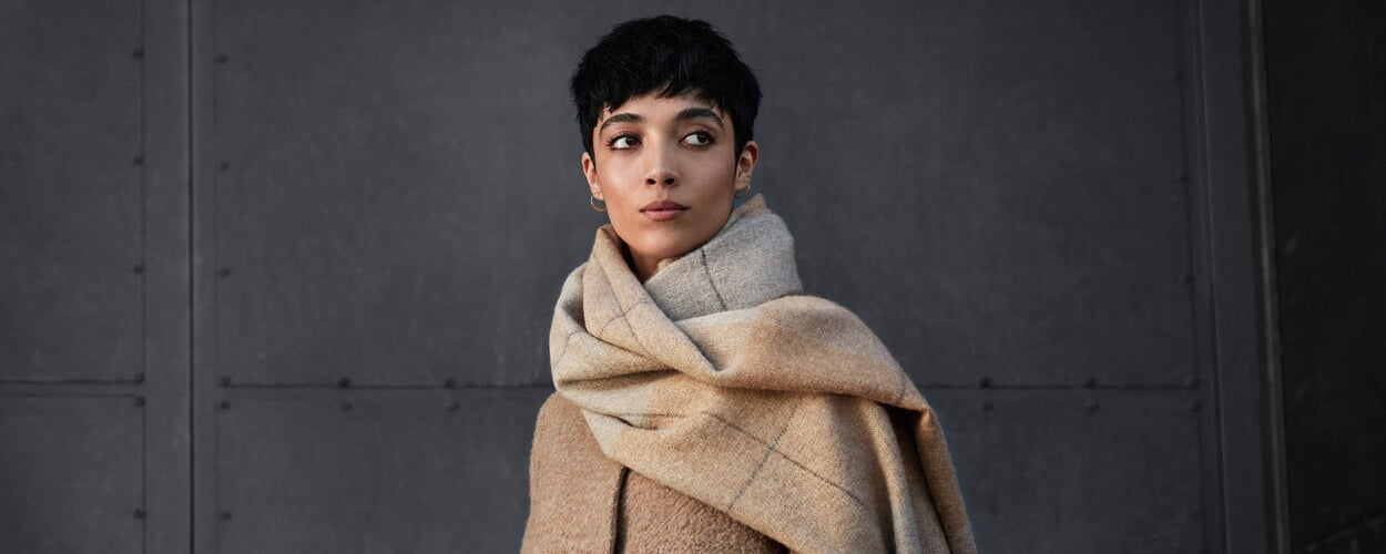 Schal tragen mit Stil