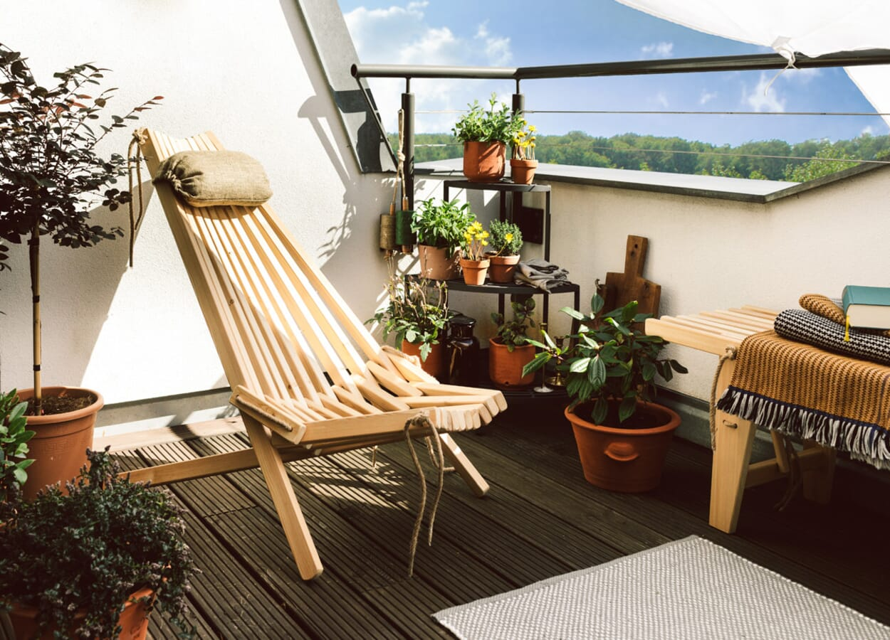 Balkon genießen