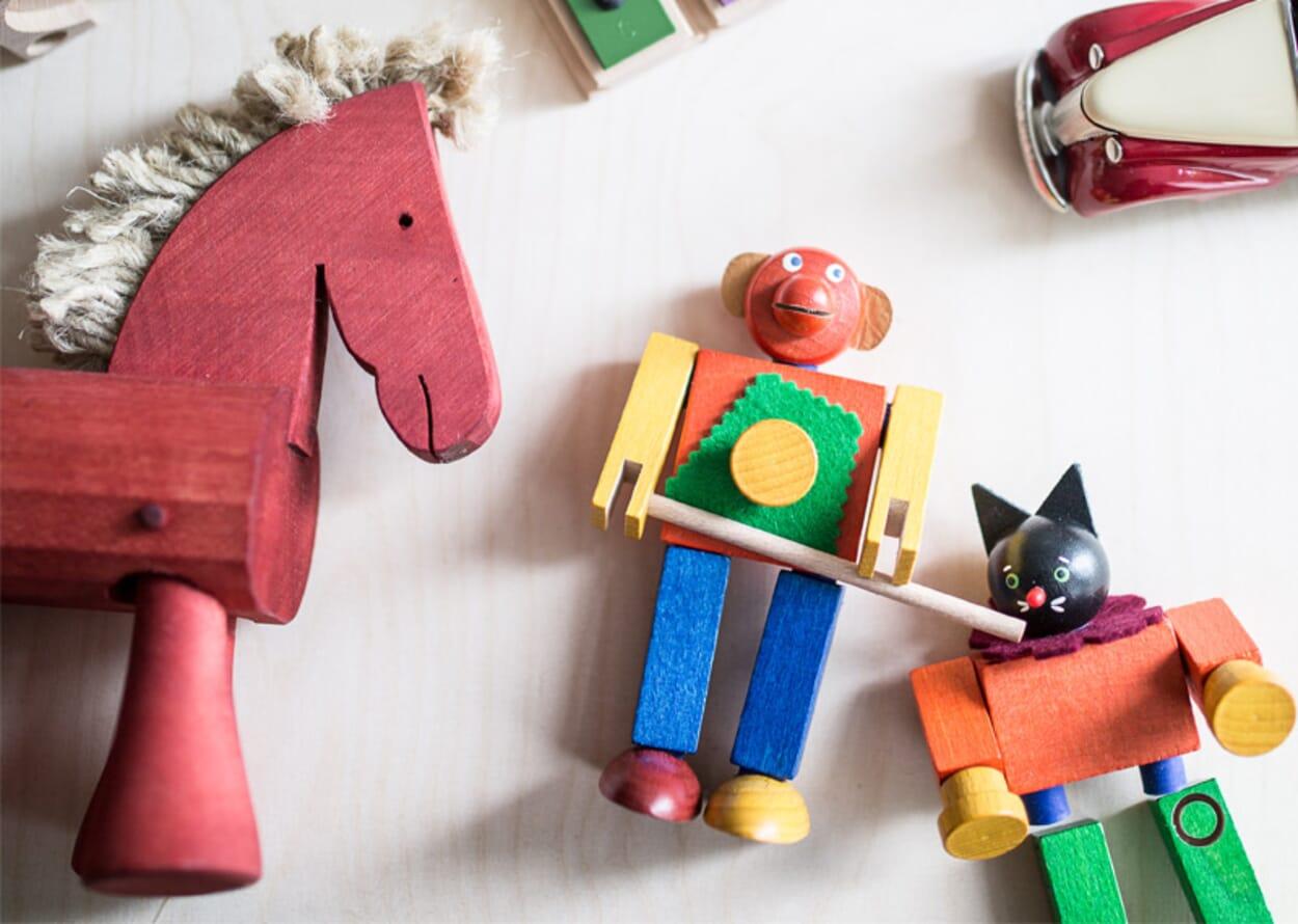 Robustes Holzspielzeug