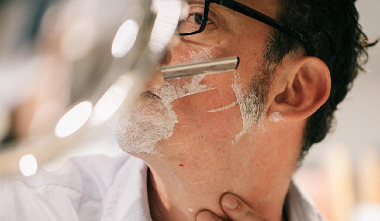 Rasur mit dem Rasiermesser