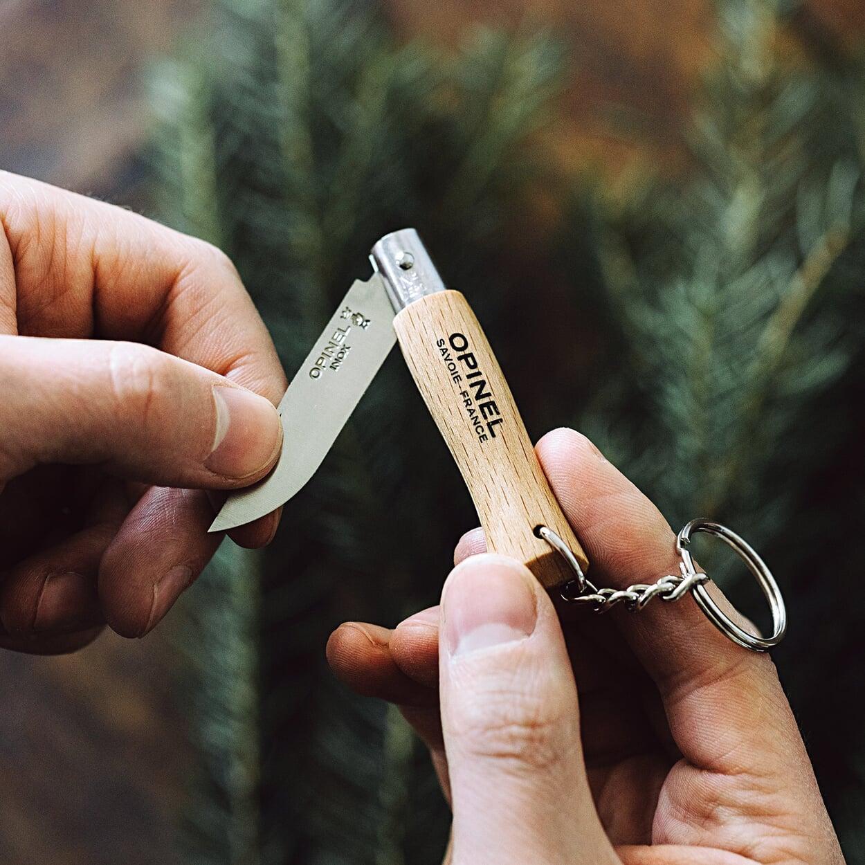 Opinelmesser mit Schlüsselring