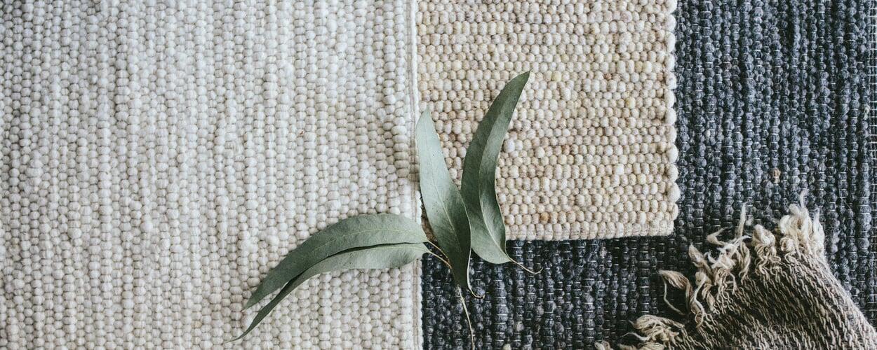 Webteppiche aus Schurwolle