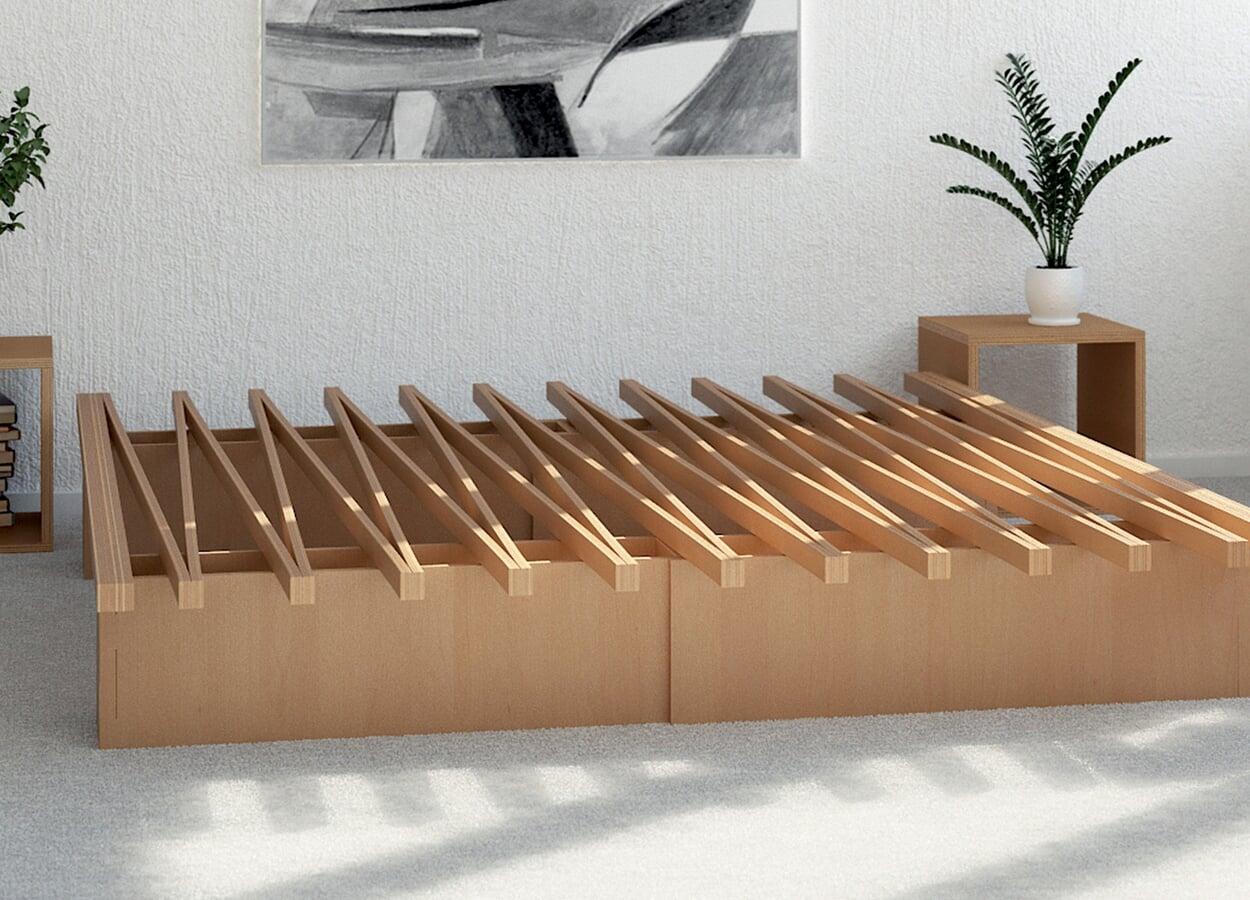 Bett breitenvariabel