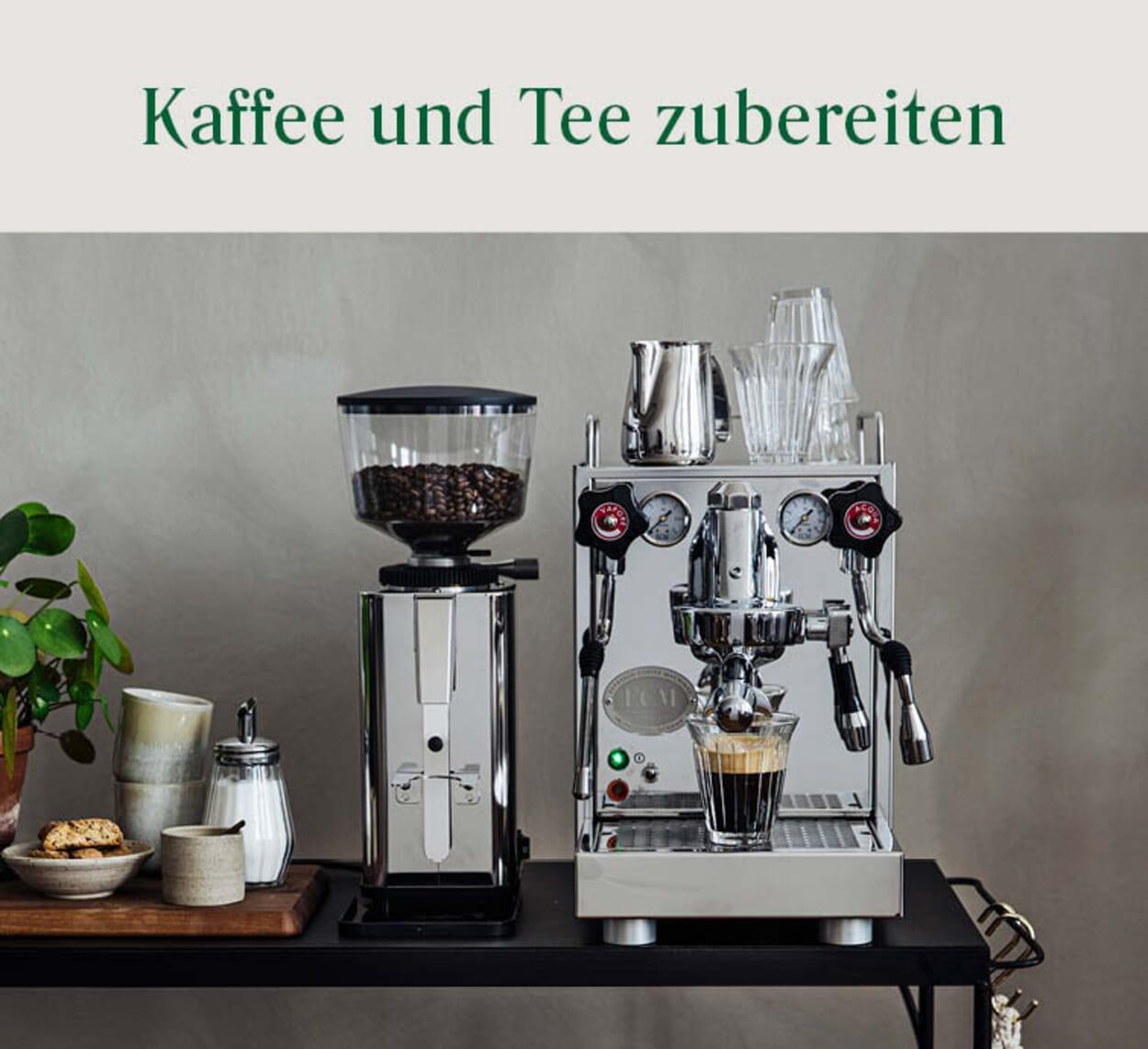 Kaffee und Teezubereitung