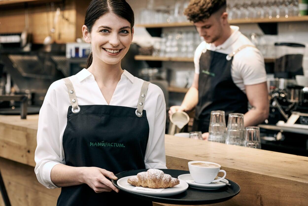 Service in der Manufactum Gastronomie
