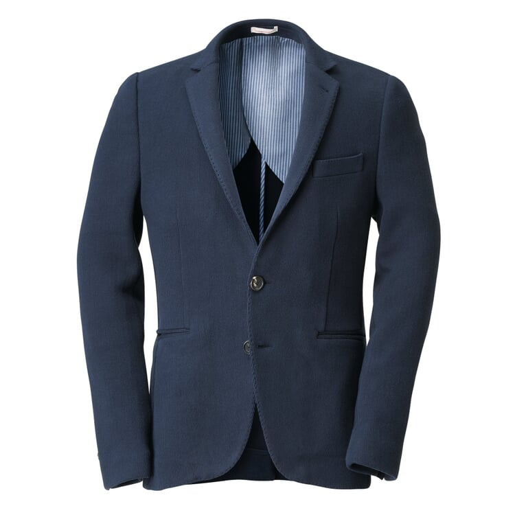 Knowledge Cotton Apparel Knitted Blazer Blue
