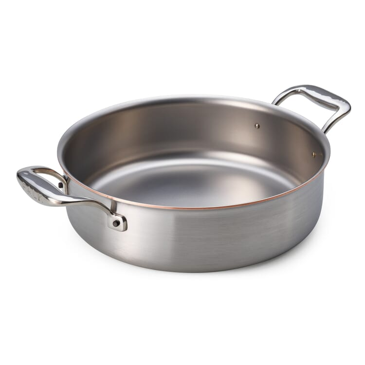 Braising Pan with Copper Core, Straight Sides