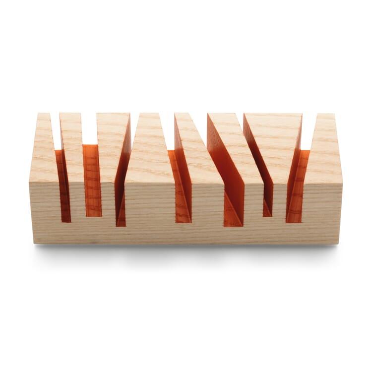 "Letter Stand ""Cuts"", Orange"