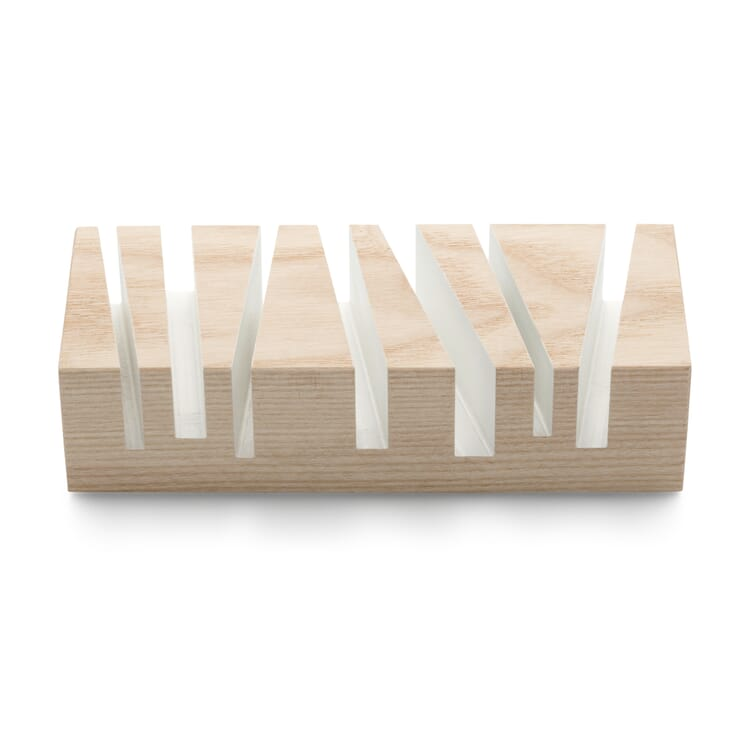 """Letter Stand """"Cuts"""", White"""