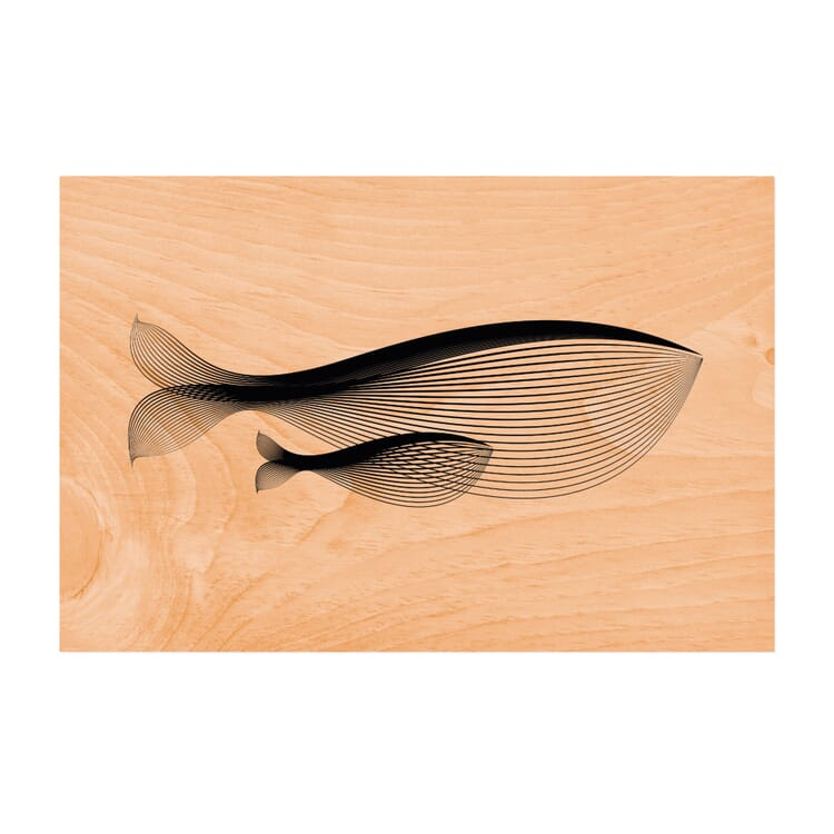 Postcard Woodhi, Whale