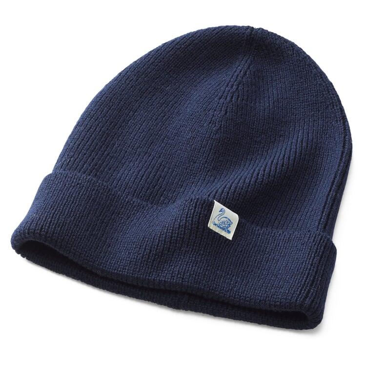Merz beim Schwanen Merino Wool Knit Cap Dark blue