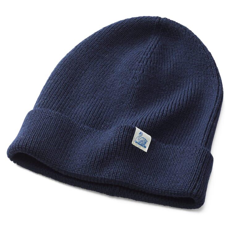 Merz beim Schwanen Merino Wool Knit Cap, Dark blue