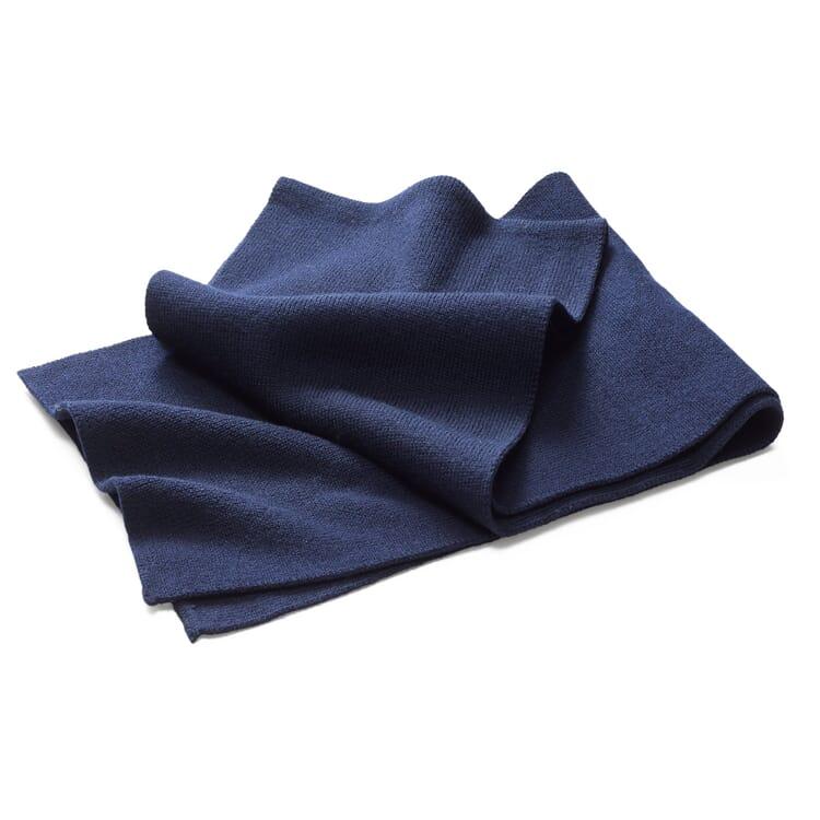 Merz beim Schwanen Merino Wool Knit Scarf, Dark blue