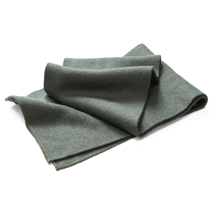 Merz beim Schwanen Merino Wool Knit Scarf, Green