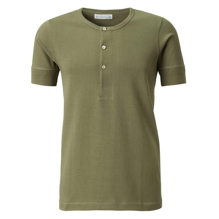 Men's Half-Sleeved T-Shirt Made of Jersey by Merz b. Schwanen, Green