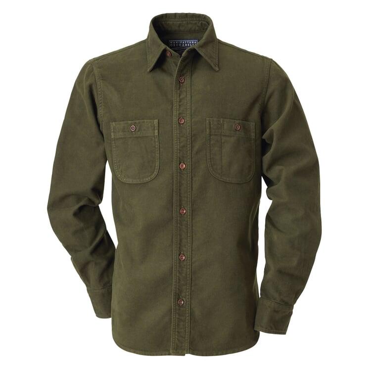 Manifattura Ceccarelli Moleskin Shirt Dark green
