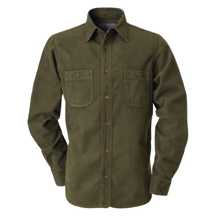 Manifattura Ceccarelli Moleskin Shirt, Dark green