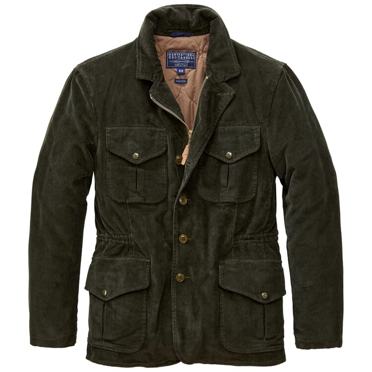 Men's Corduroy Jacket, Green