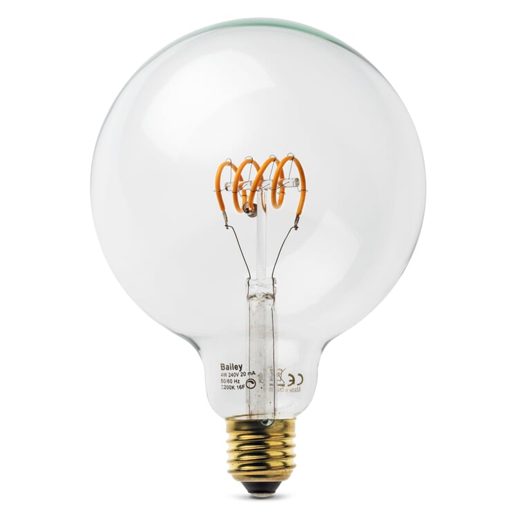 LED Filamentlampe Spiralfaden Globe