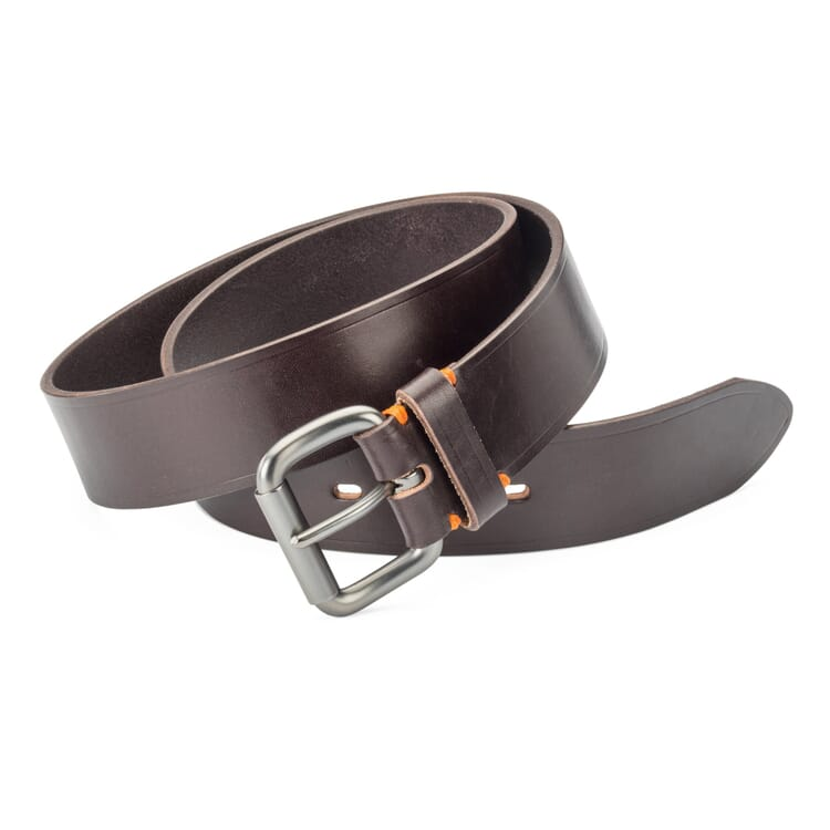 Schröder Pit Tanned Belt, Dark brown