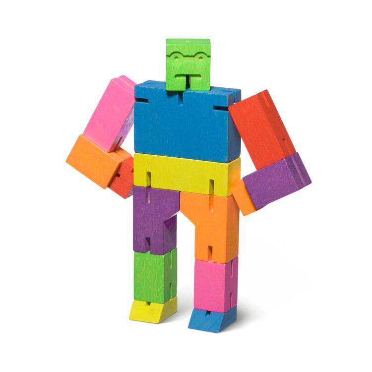 Holzfigur Cubebot