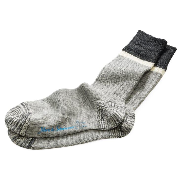 Men's Woollen Socks by Merz b. Schwanen, Mottled Grey