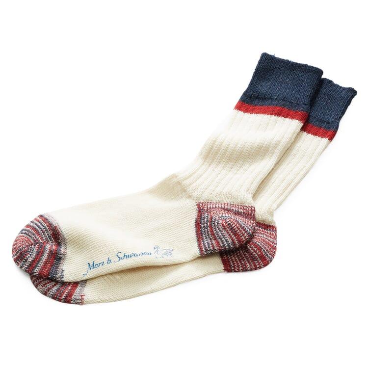 Men's Woollen Socks by Merz b. Schwanen, Ecru