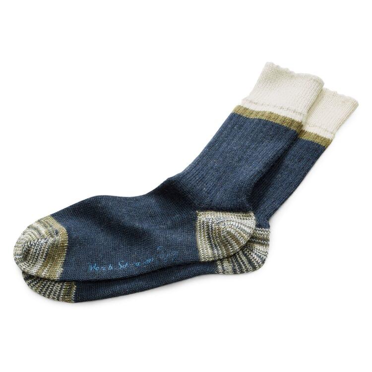 Men's Woollen Socks by Merz b. Schwanen, Blue