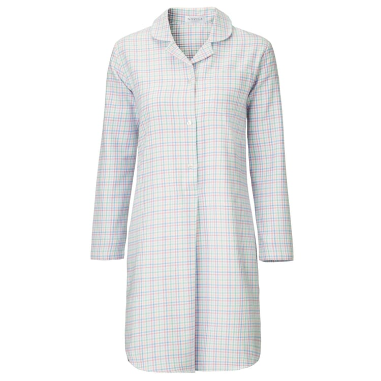 Novila Damennachthemd Flanell, Pastell