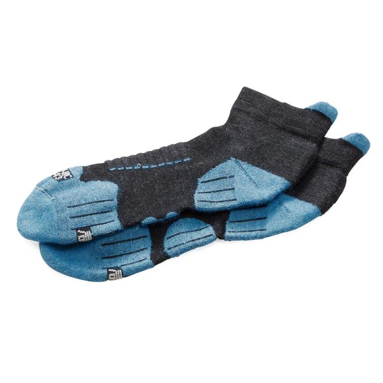 Sportsneaker Socke Merinowolle, Anthrazit-Petrol
