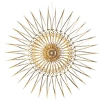 Paper Cut Star Golden Ø 20 cm