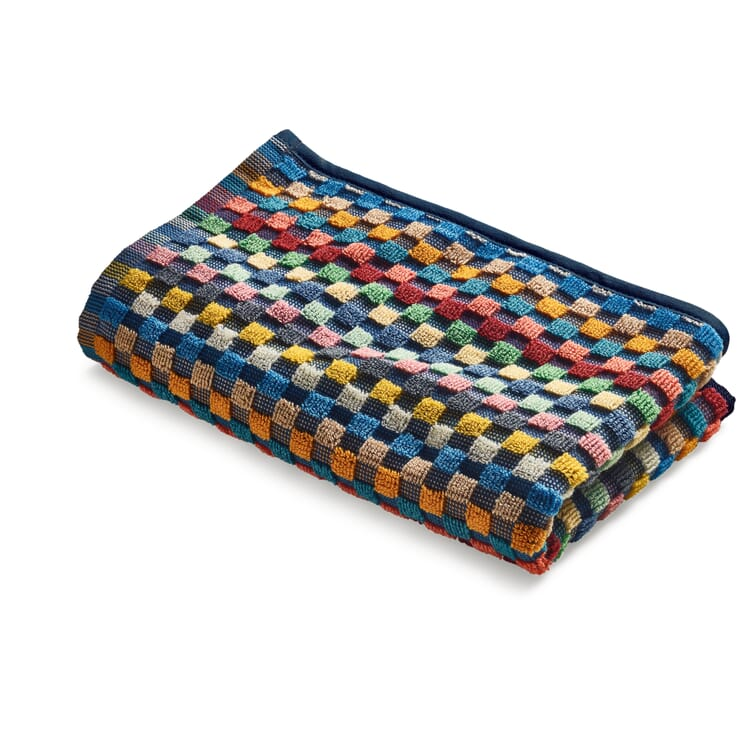 Towel Made of Chequered Terry Cloth
