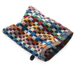 Towel Made of Chequered Terry Cloth Washing Mitt