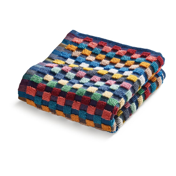 Towel Made of Chequered Terry Cloth Facial Towel