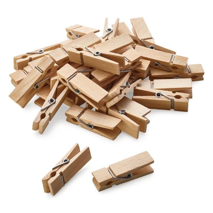 Beech Wood Clothes Pegs, Length 4.5 cm, width 1.2 cm