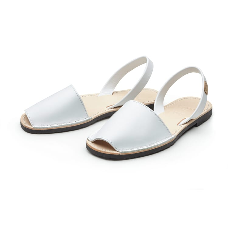 Women's Avarca Sandals Made of Cowhide, White