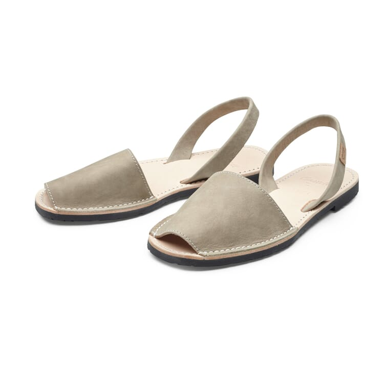 Women's Avarca Sandals Made of Cowhide, Sand