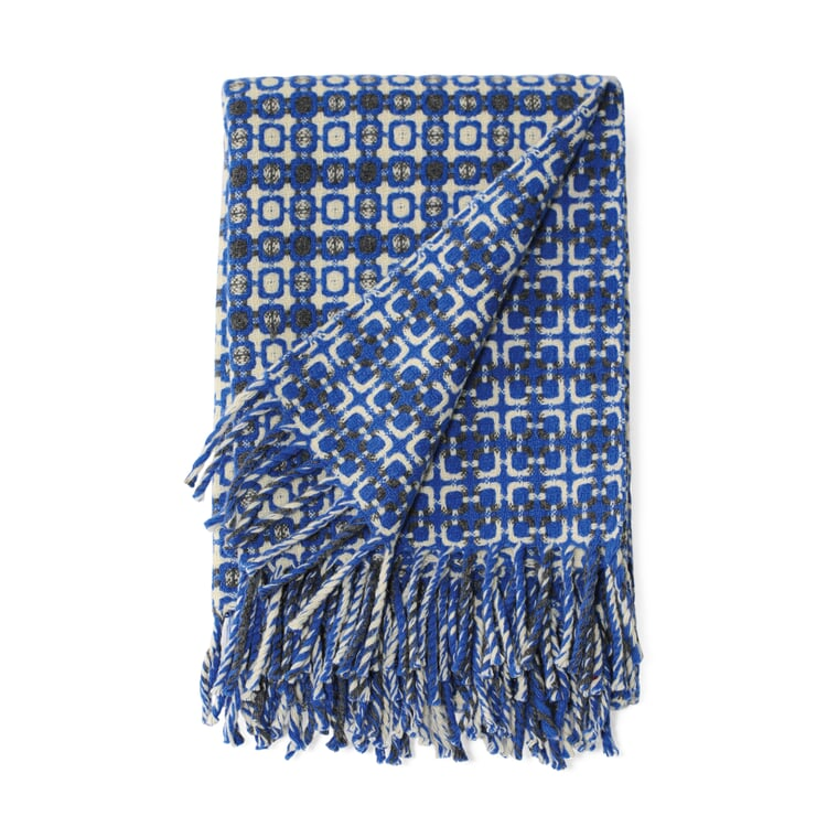 Decke Manteca Blanket Blau