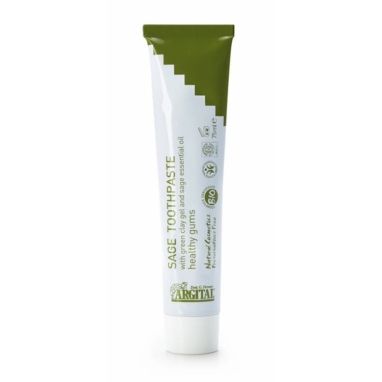 Green Clay Toothpaste, Sage