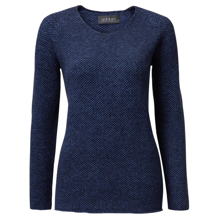 Women's Jumper with Seed Stitch by Seldom, blue
