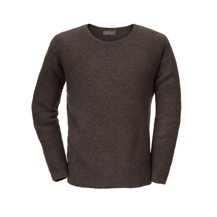 Seldom Men's Raglan Sleeve Jumper, Brown