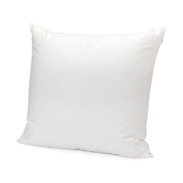 Kopfkissenbezug Damast hellgrau, Weiß